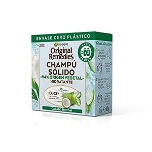 Garnier Original Remedies Champú Sólido - Coco Y Aloe Vera Ecológico Para Cabello Normal, Raíces Grasas