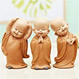 LISAQ Petit Moine Sculpture de Style Chinois résine sculptée à la Main Statue de Bouddha décoration de la Maison Accessoires Cadeau Statue Petite Statue de Bouddha
