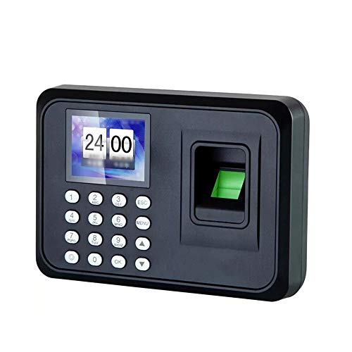 Zeiterfassungsgerät Fingerabdruck + Passwort Recognition Büro-Anwesenheits-Maschine Sensor Recorder Access Control System Mitarbeiter Checking-in-Recorder mit LCD-Bildschirm Die Teilnahme Recorder-Mas