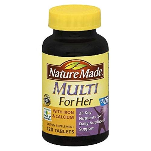 Nature Made Women's Multivitamin w/Iron & Calcium Dietary Supplement Tablets - 120ct