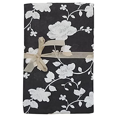 mediatex srl Gran foulard Eva - Tela decorativa para cama de matrimonio, 2 plazas, 250 x 280 cm, fabricada en Italia (negro)