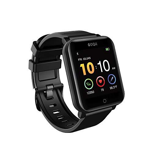 GOQii Smart Vital Fitness SpO2, Body Temperature and Blood Pressure Tracker + Vital 4.0 SpO2, Body Temperature and Blood Pressure...