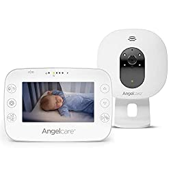 4.3'' Large led screen Ideal for multiples & toddler, you can add an extra nursery unit* Wall-mount or tabletop nursery unit Room temperature display on the parent unit Infrared night vision