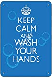 Jager Keep Calm and Wash Your Hands Retro Metal Decor Wall Plaque Vintage Tin Sign for House Cafe Club Home Or Bar