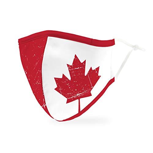 Weddingstar waschbare, Mundschutzmasken aus Stoff. Wiederverwendbar und verstellbar mit Staubfiltertasche - Kanada Flagge