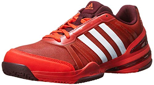 adidas Men`s CC Rally Comp Tennis Shoes Bold Orange/White/Maroon