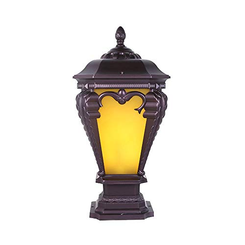 Libuty Jardin Europe Villa Electric City Antique Épaississement de Haute qualité Colonne Lampadaire Applique Lampe Villa, Outdoor lumières d'éclairage paysager Pathway Jardin Lumière pelouse arrière