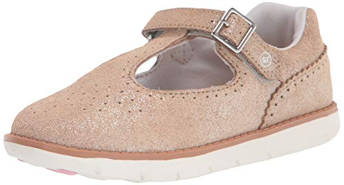 Stride Rite girls Srtech Nell Mary Jane Flat, Champagne, 4 Wide Toddler US