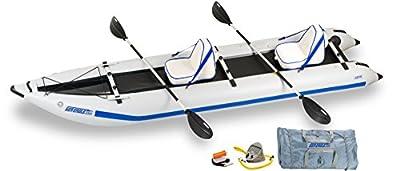 435PS-DLX Sea Eagle Paddle Ski Deluxe Package Catamaran Inflatable Kayak