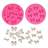 Mini Bow Silicone Fondant Mold Bowknot Candy Chocolate Mold Cake Cupcake Decoration For Birthday...