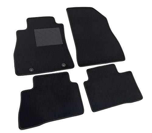 MTC Tapis de sol pour Nissan Juke 2010-2019 Fix Rond sur mesure, antidérapant, talonnette en PVC, Fix d