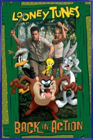 1art1 Looney Tunes: De Nuevo En Acción Póster con Marco (Plástico) - Brendan Fraser (91 x 61cm)
