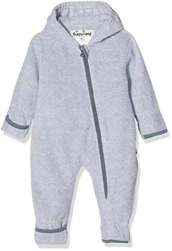 Playshoes Baby-Unisex Fleece-Overall meliert Strampler, Grau (grau/Melange 37), (Herstellergröße:80)