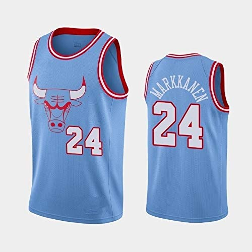 Zxwzzz NBA Bulls No.8 Camiseta No.24 De Baloncesto Caliente Jersey No.23 Jordan Divierte La Camiseta (Color : Blue 24, Size : XX-Large)