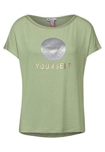 Street One Damen 316088 T-Shirt, Faded Green, 42