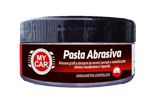 My Car, Pasta Abrasiva, Granulometria Controllata, Rimuove Graffi e Abrasioni, Effetto Lucidante, Elimina l'Opacità, Anche Uso Professionale, 150 gr
