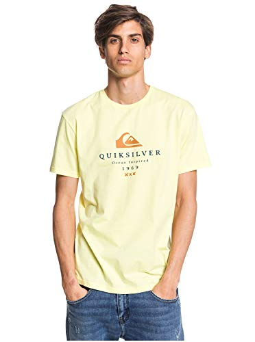 Quiksilver First Fire tee M Camiseta, Hombre, Amarillo (Charlock), XS
