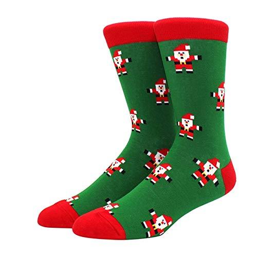 Algodón Happy Men Calcetines Nuevo Otoño Invierno Navidad Mujer Calcetines Divertido Año Nuevo Santa Claus-a14
