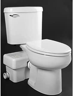 Macerating Toilet, Round, 1/2 HP, 115V