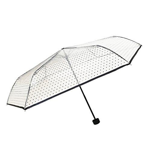 SMATI Mini Regenschirm Taschenschirm transparenter - Kompakt - STABIL (Lady)