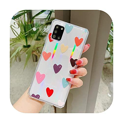 INS Love Heart - Carcasa para Samsung S20 S21 Plus Ultra Galaxy S20 FE 5G (poliuretano termoplástico), transparente