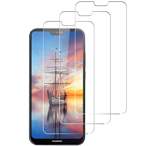 [3 Stück] Panzerglas Schutzfolie für Huawei P20 Lite, 9H Härte, HD Clear, Anti-Öl, Anti-Scratch P20 Lite Panzerglasfolie, Displayschutzfolie für Huawei P20 Lite