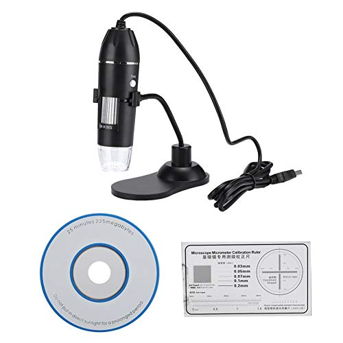 Mugast Digital USB Microscope,50X-1000X Magnification Endoscope Electronic Microscope with 8 LED Fill Lights for Insect Anatomy/Plant Anatomy, Skin Testing, Forensic Identification, etc