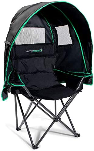 Folding Camping Chair with Canopy 600D Oxford Cloth with UV Protection Umbrella Chair with Cooler product image