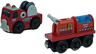 Thomas Wooden Railway - Fire Brigade Truck AND Train - Loose Brand New