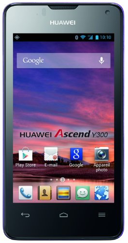 Huawei Ascend Y300 Smartphone (10,2 cm (4,0 Zoll) Touchscreen, 5 Megapixel, 4 GB Interner Speicher, Android 4.1 (Jelly Bean)) lila