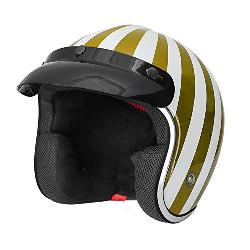 GAOZHE Motorcycle Half Open Face Helmet Open Face Motorcycle Helmets, Motorbike Half Helmet Crash Helmet for Cruiser, adjustable size, moped, DOT Approved
