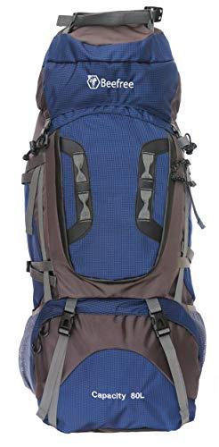Beefree Outdoor Frontlader Klettern Wandern Trekking Reisen Rucksack Wasserdicht Groß 50L 70L 80L Rucksack (80L, Blau)