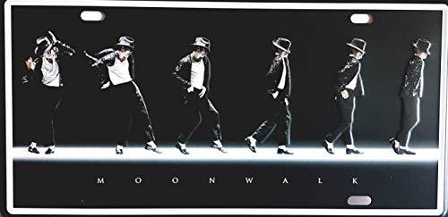 MR Placa de matrícula Vintage Michael Jackson Moonwalk