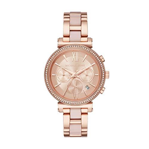 Michael Kors Damen Analog Quarz Uhr mit Edelstahl Armband MK6560