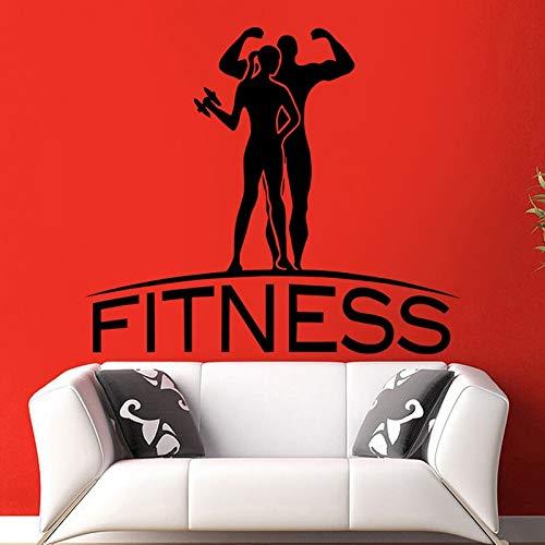 ASFGA Fitness Club Aufkleber Fitness Poster Wandaufkleber dekorative Wandbilder Fitness Sport Wandaufkleber Männer und Frauen Aufkleber Übung Fahrrad Aufkleber 40x46cm