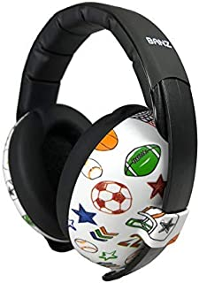 BANZ Earmuffs Infant Hearing Protection – Ages 0-2 Years – The Best Earmuffs for Babies & Toddlers – Industry Leading Noise Reduction Rating – Block Noise (Sports)