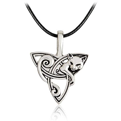 Norse Viking Necklace Jewelry for Men Women (Fox Pendant)