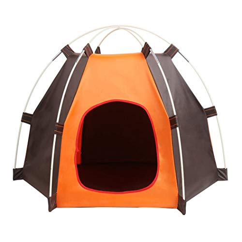 YUEBAOBEI Dog Tent Portable Folding Cat House Bed, Outdoor Waterproof Animals Shelter Wigwam, Travel Camping Pet Cage in Car, Rainproof Durable Dogs Cats Bed House for Indoor Outdoor