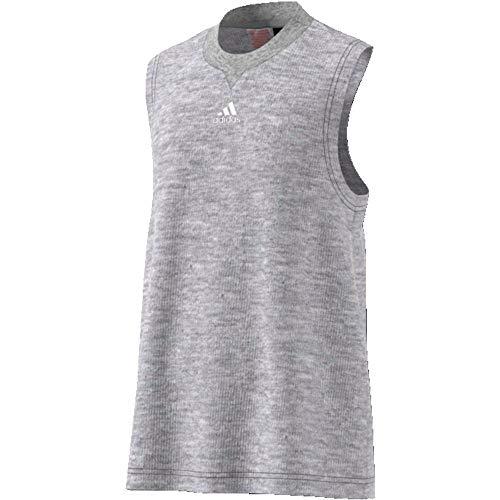 adidas - Fitness-Tanktops für Mädchen in Medium Grey Heather/White, Größe 152