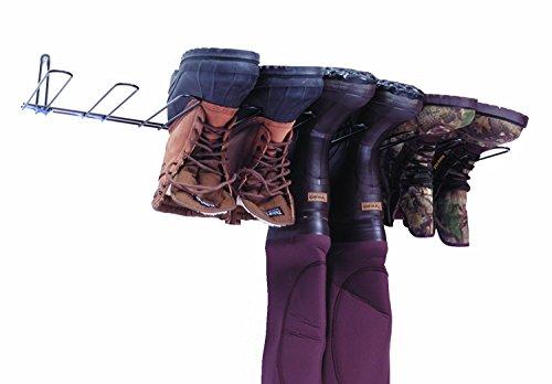 "Rack'Em 4 Pair Boot Rack & Wader Hanger , 4.5""H x 35.25""W x 10.5""D"