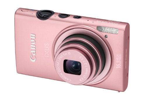 Canon IXUS 125 HS Digitalkamera (16 MP, 5-fach opt. Zoom, 7,5cm (3 Zoll) Display, Full HD, bildstabilisiert) pink
