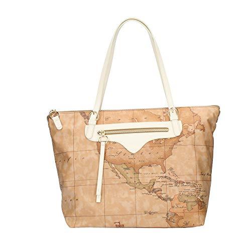 ALVIERO MARTINI Borsa Shopper Bag Geo Soft e Inserti Pelle Bianco LGO60S578