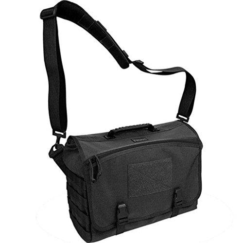 Maxpedition Sac bandoulière, Vesper(TM) Tactical Laptop Messenger Bag (Black), 41 in, no
