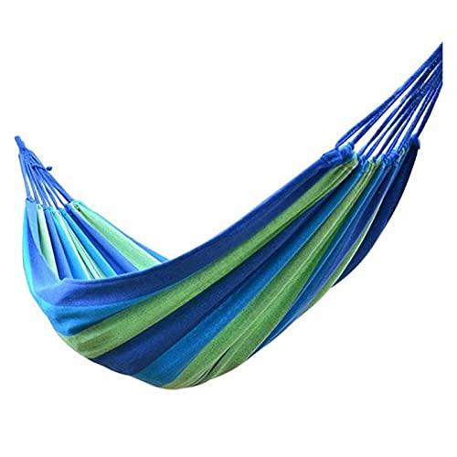 DHDHWL Hamaca, Portátil Hamaca al Aire Libre Arco Iris jardín Deportes hogar Viaje Camping Columpio Lienzo Raya Colgar Cama Hamaca niños niño Playa Hamaca Jardín (Color : B)