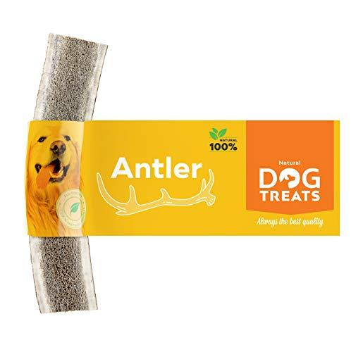 Asta Partida de Ciervo para Perro 100% Natural Cuerno Masticar Hueso Juguete, Tamaño Large