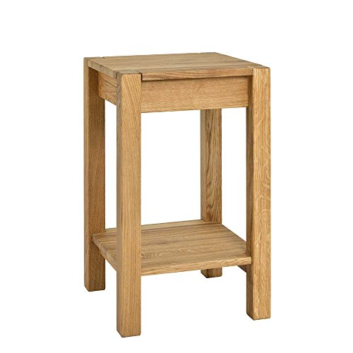 Pharao24 Telefontisch aus Eiche Massivholz 60 cm hoch