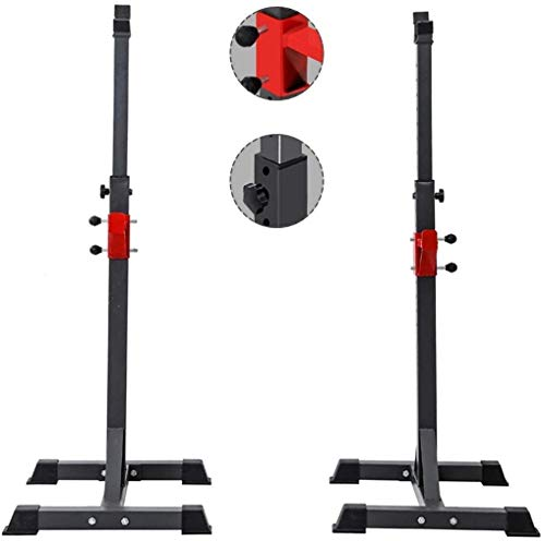 Read About HJYQ 50 60(90~150) cm Adjustable Squat Rack and Bench Press Rack Portable Olympic Weight/...