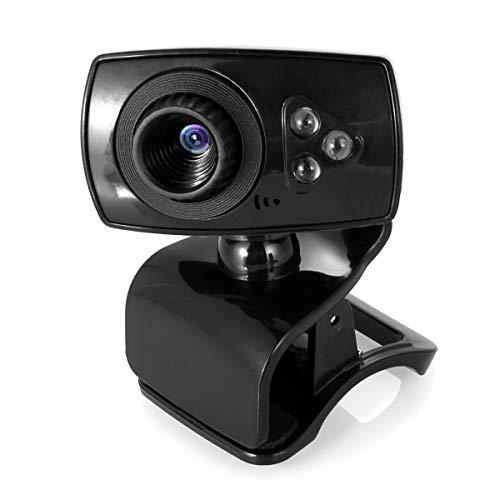 DERCLIVE Computer Webcam 480P USB Driver-free Desktop Laptop Web Camera Built-in Microphone Best for Vdeo Calling