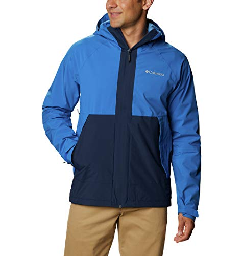 Columbia Evolution Valley Chaqueta, Hombre, Azul (Bright Indigo, Collegiate Navy), M