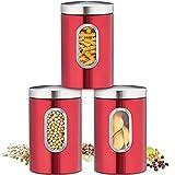 Recipiente para Alimentos, Bote para Conservar Alimentos, Café, Té Sellados en...